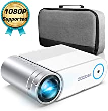 """Projector, GooDee 2020 Upgrade G500 Mini Video Projector with 5500 Lux, Max 200"""".."""