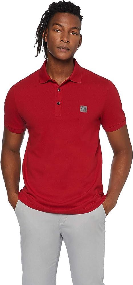 Boss passenger polo maglietta da uomo a maniche corte 97% cotone 3% elastan 50378334E