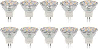 Simba Lighting LED MR11 Flood Light Bulbs (10 Pack) 12V 3W 20W Halogen Replacement 2-Pin 220lm for Landscape, Accent, Track Lights, and Christmas Tree Fiber Optics, GU4 Bi-Pin Base, 3000K Soft White