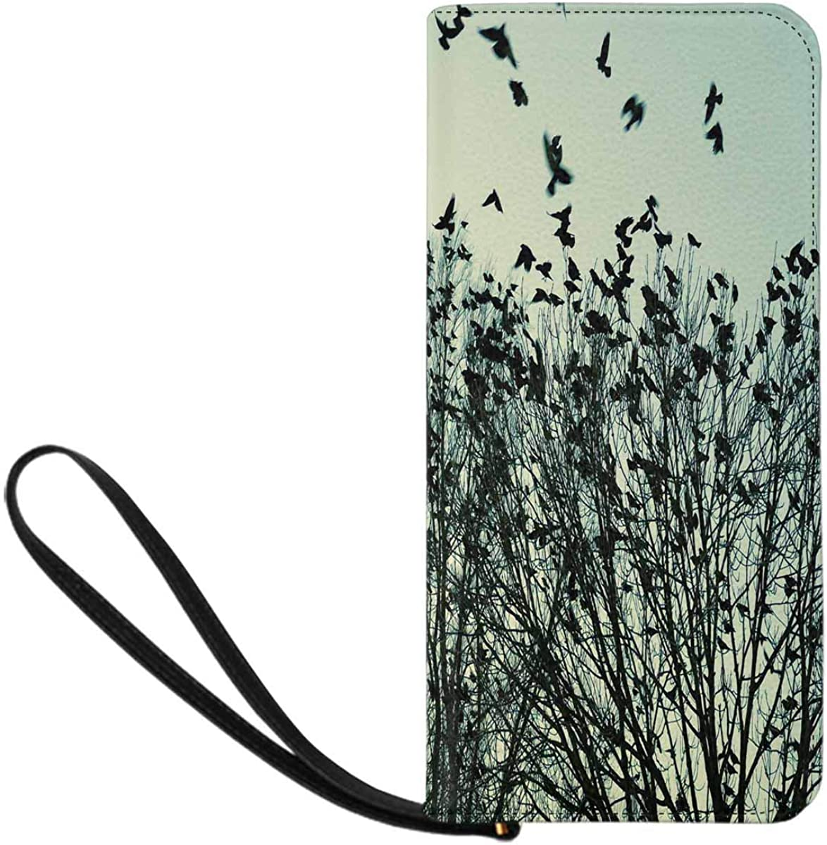 Limited price INTERESTPRINT Jackdaws Go to Sleeping Wallet safety Credit Card C Place