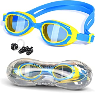 Kids Goggles for Swimming Swim Goggles with Clear Vision Anti Fog UV Protection for Kids Children and Early Teens Boys and Girls Toddlers Age 3-10 Years Old