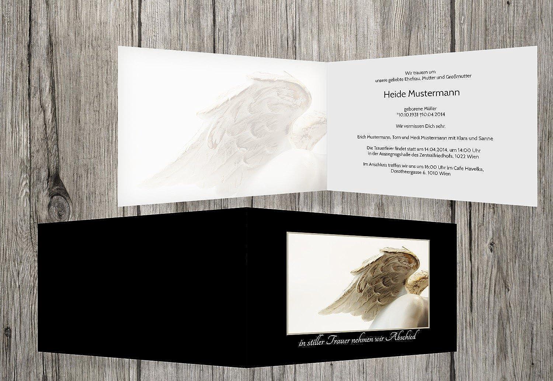 punto de venta barato Tarjeta Tarjeta Tarjeta de luto ángel, negro, 30 Karten  bienvenido a elegir