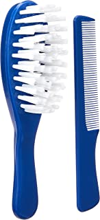 Thermobaby Brush and Comb Set, Indigo Blue, 60 grams (Pack of 2)