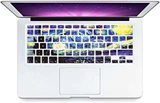 HRH Spanish Silicone Keyboard Cover Skin for MacBook Air 13,MacBook Pro 13/15/17 (with or w/Out Retina Display, 2015 or Older Version)&Older iMac EU Layout Keyboard Protector-Starry Night