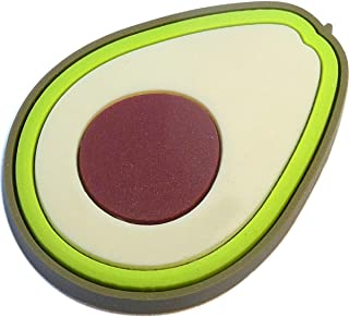 Avocado Rubber Charm for Wristbands and Shoes