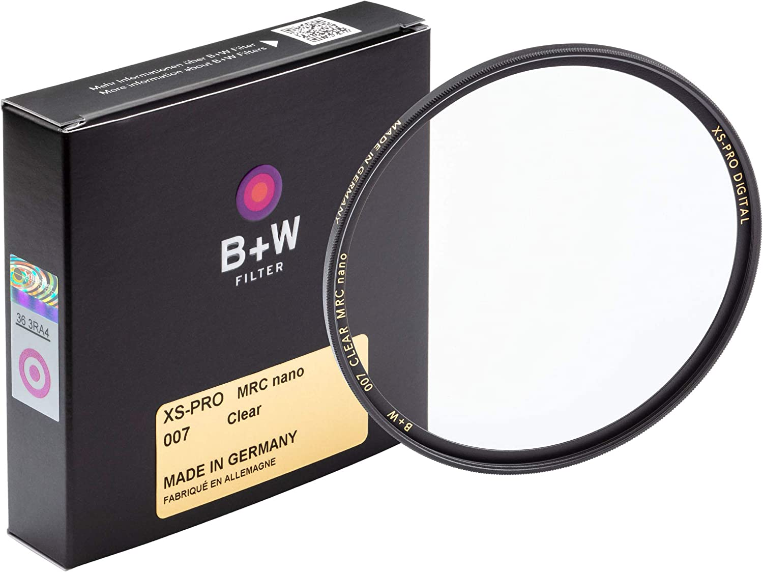 B+W 43MM XS-PRO Albuquerque Mall Clear with Multi-Resistant 007M Nano f Challenge the lowest price Coating