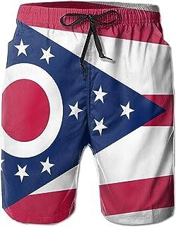 Bernice Winifred Flag of Ohio Pantalones Cortos de Playa de Secado rápido para Hombre