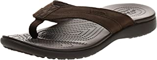 Crocs Santa Cruz Leather Flip M, Chaussures de Plage & Piscine Homme