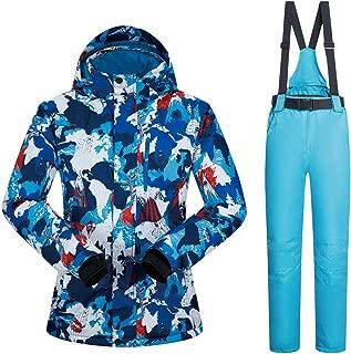 YUGNHAJ Waterproof Snowsuit, Snowboard Lightweight 2-Piece ski Suit for Women or Men