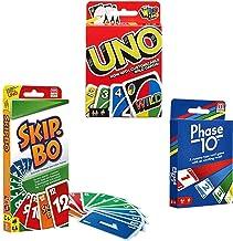 Mattel Card Game Set (Skip Bo, Uno & Phase 10)