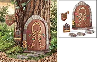 CT DISCOUNT STORE A Six Pieces Set Cute Dew Drop Inn Fairy Gnome Tree Decoration Outdoor Garden Accent