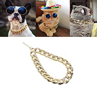 Stebcece Long Pet Dog Cat Chains Collars Necklace
