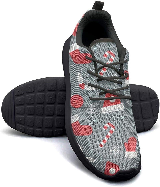 Gjsonmv Christmas red hat Socks mesh Lightweight shoes for Women Non Slip Sports Baseball Sneakers shoes