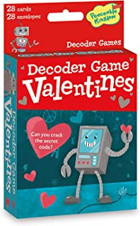 Peaceable Kingdom Valentine's Day 28 Robot Decoder Game Cards with Envelopes