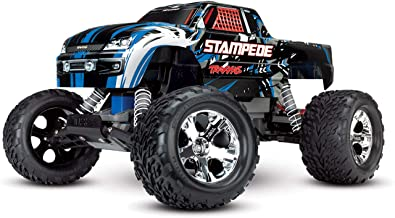 Traxxas Stampede 1/10 2WD Monster Truck with TQ 2.4GHz Radio, Blue, 1:10 Scale