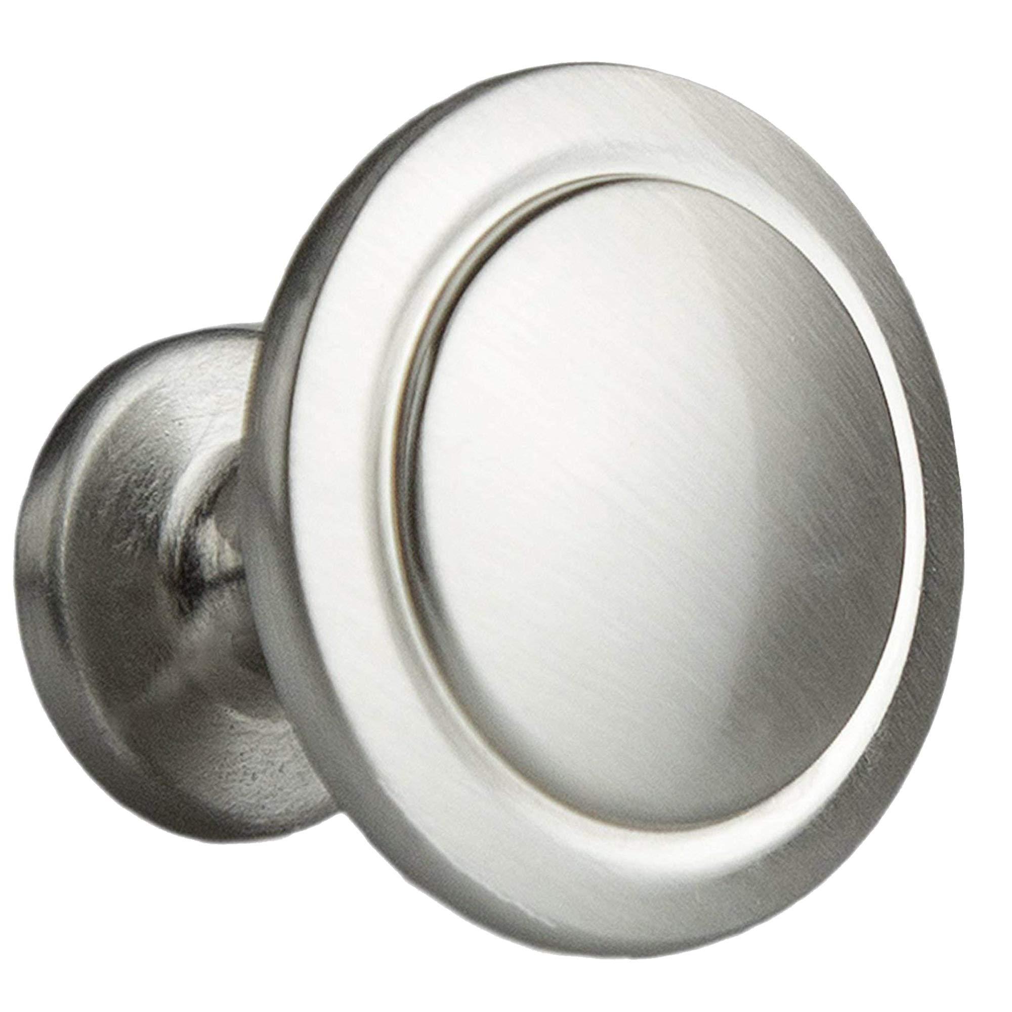 Satin Nickel 50 Cabinet Round Knob 1-1//4-inch Diameter 1-1//4-inch Diameter