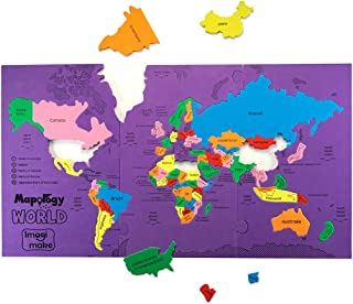 Imagimake: Mapology World- World Map and Its Countries- Learning Aid & Educational Toy- Jigsaw Puzzle- for Kids Age 4 and Above