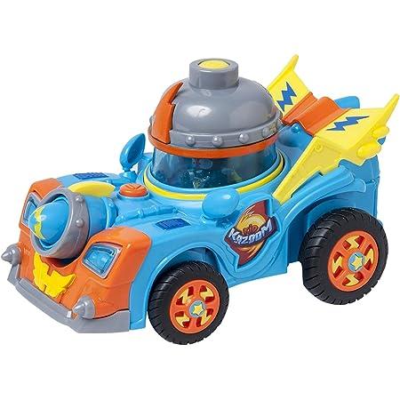 SuperThings Rivals of Kaboom - Secret Spies - Vehículo Kid Kazoom (PSTSP112IN50) con Cañón, Incluye 1 Figura
