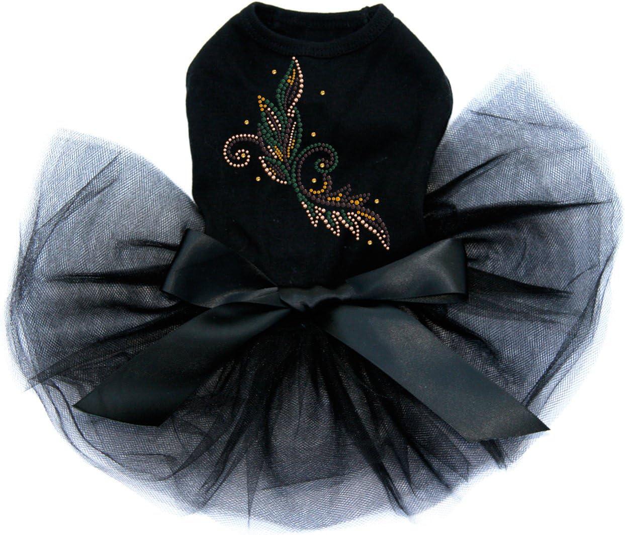 Fall Leaves 2021 spring and summer new Max 54% OFF # 2 - Bling Tutu Rhinestone Black XL Dog Dress