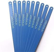 Claral 10pcs de acero al carbono de 12 pulgadas 24T de 300 mm de la sierra for metales Cuchillas azul oscuro trabajo del metal Hojas de sierra for corte de metales Herramientas manuales de bricolaje C