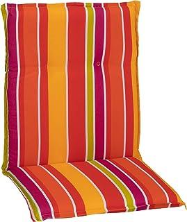 Gartenstuhl-Kissen Almohada Cojines para sillas de jardín Respaldo bajo luz de Tira Verde Violeta Amarillo Naranja