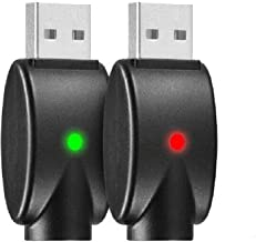 510-Thread USB Smart Charger Over-Charge Protection, Compatible with Standard 510 Threaded Devices 2-Pack (Wireless)