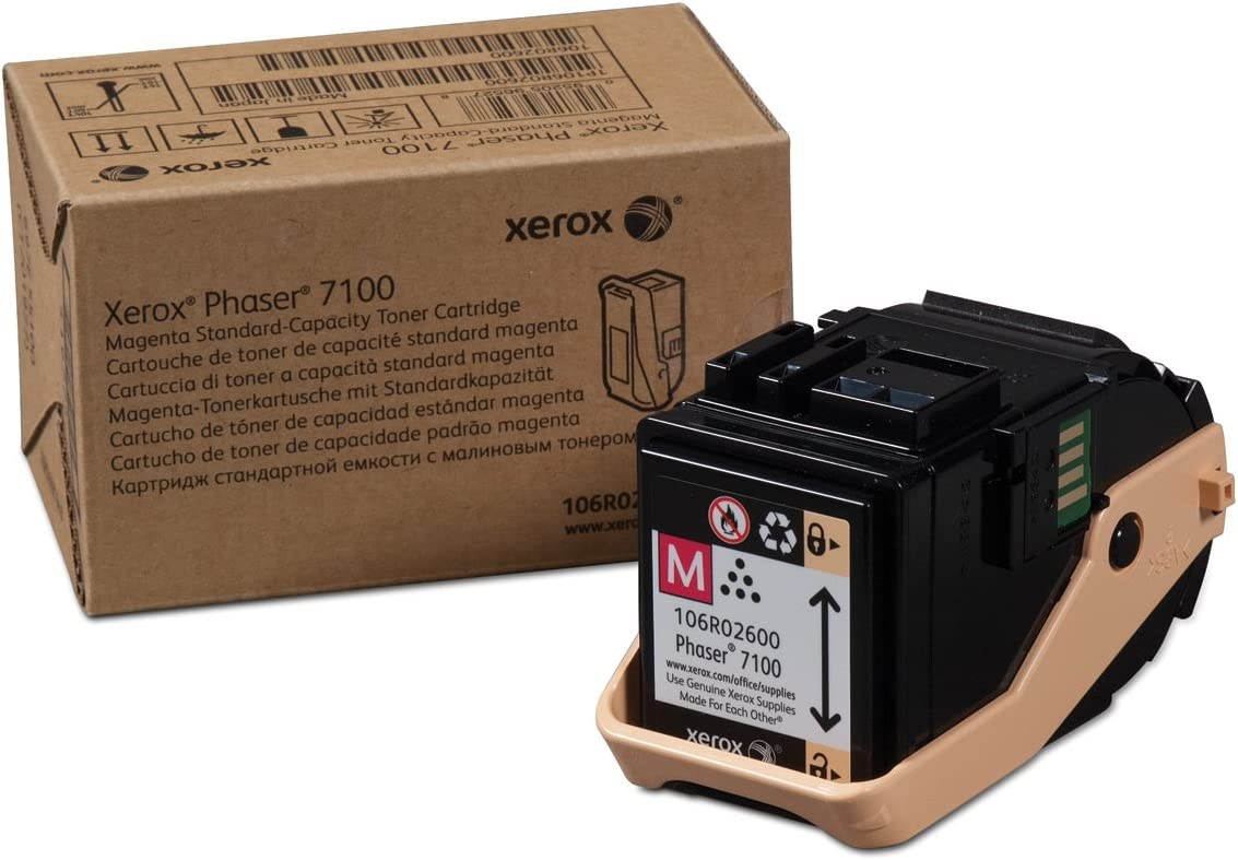 Xerox Phaser 7100 Magenta Standard Capacity Toner-Cartridge (4,500 Pages) - 106R02600