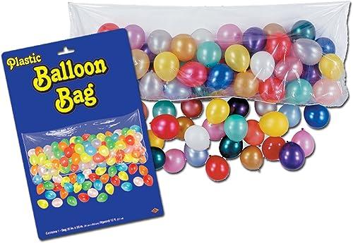 Beistle 55910-B Sac de ballon en plastique avec des ballons-Pack de 12