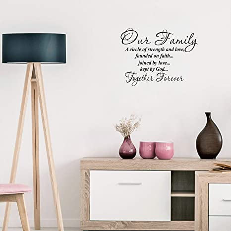 Wall Quote Vinyl Decal Modern Transfer. The love in Our Family.. Wall Art Sticker