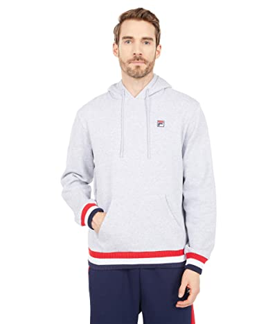 Fila Caro Hoodie (Light Grey Marble/Red/White) Men