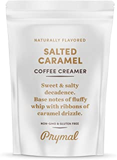 PRYMAL Salted Caramel Coffee Creamer - Keto, Non Dairy, Sugar Free - 100% Natural, Non Refrigerated Powder with MCT - 11.3oz Bag