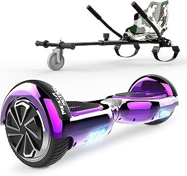 """HITWAY 6.5"""" Hoverboard Patinete Eléctrico con Silla, Scooter Eléctrico Bluetooth Asiento Kart, Self Balancing Scooter Potente Motor con Indicador LED, ..."""