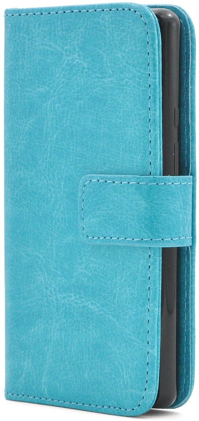 考えたブラザーガムPLATA SH-02H / SHV33 / 503SH / DM-01H ケース 手帳型 カラー レザー スタンド ケース ポーチ 手帳 カバー 【 ライトブルー 水色 ブルー blue】 DSH02H-77LB