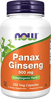 Now Foods, Panax Ginseng, 500 mg, 250 Capsules