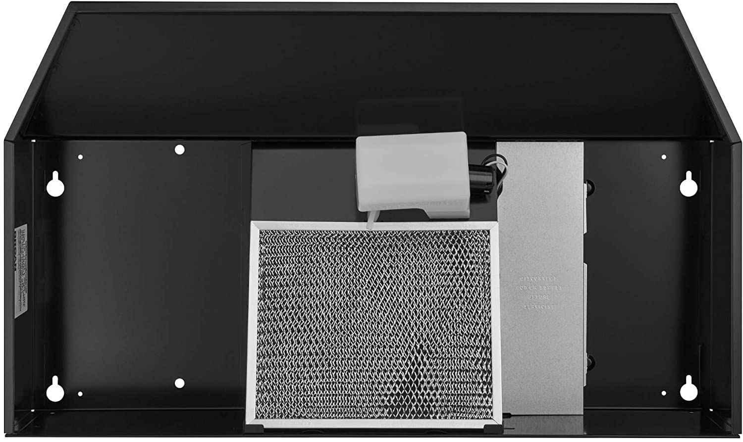 Broan-NuTone F403623 Exhaust Fan for Under Cabinet Two-Speed Four-Way Convertible Range Hood Insert with Light, 36-Inch, Black