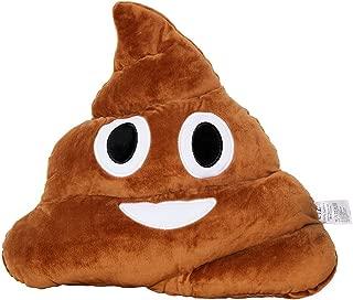 Poop 35cm Emoji Poo Emoticon Brown Triangle Cushion Stuffed Plush Soft Pillow
