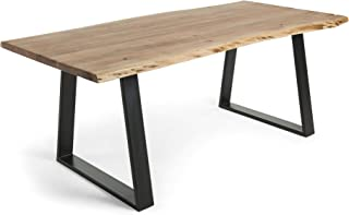 LF - Table de salle à manger Sono 200 x 95 Acacia massif et métal