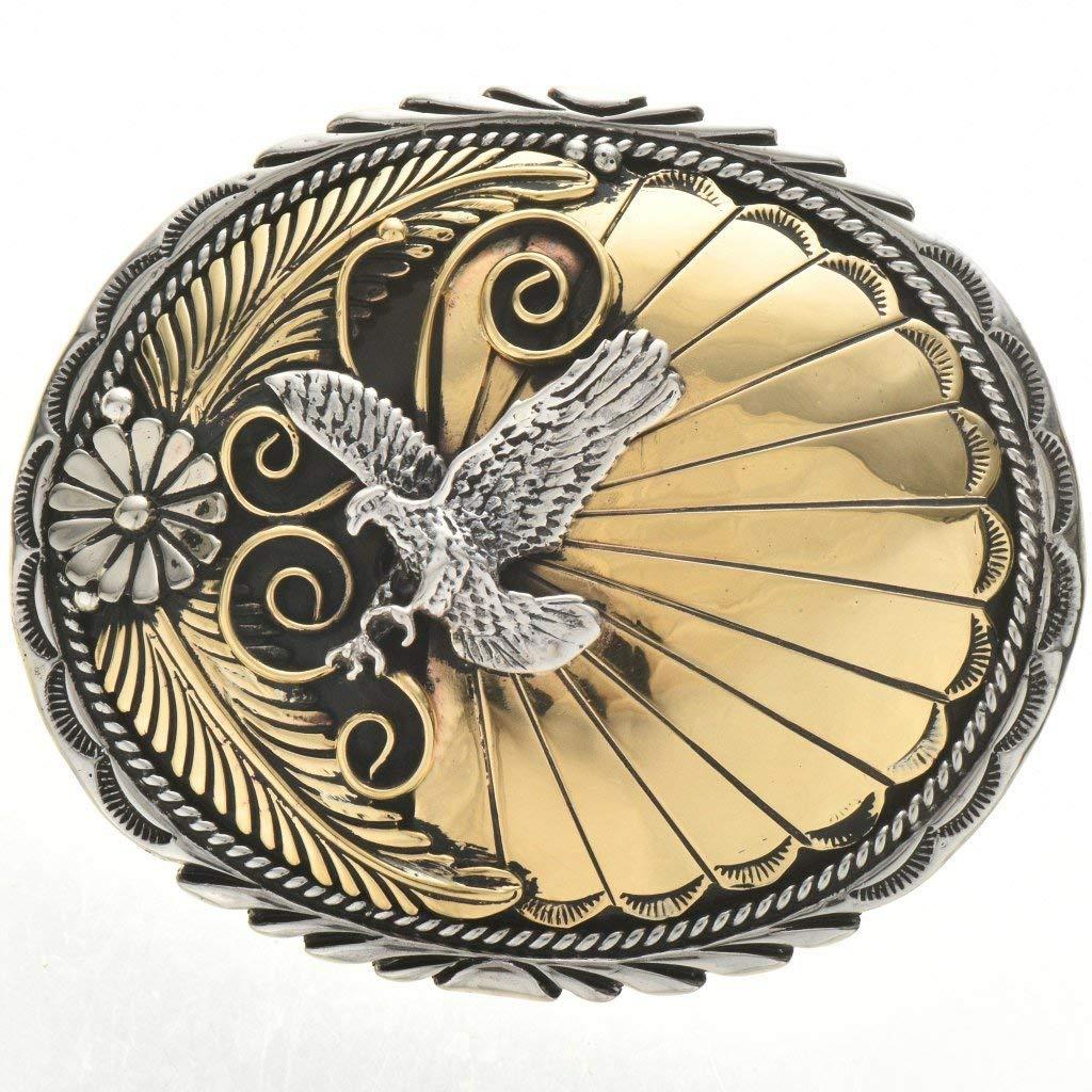 Gold Silver Belt Buckle Clearance SALE! Limited time! Native American Over item handling ☆ Design Eagle 0169