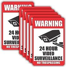 Video Surveillance Warning Sticker - (Pack of 20) 4