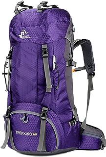 Free Knight 60L - Mochila Impermeable Ultraligera, Plegable, para Camping, con protección contra la Lluvia, Color Violeta