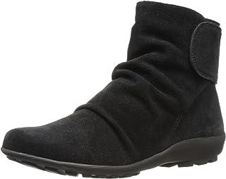 Walking Cradles Women's Harlow Ankle Boot, Black Suede, 6.5 W US