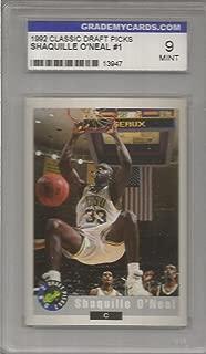 1992 Classic Draft Picks Shaquille O'Neal Card # 1 Grademycards.com 9 Mint