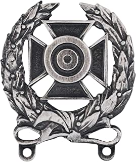 Medals of America US Army Expert Shooting Qualification Badge Silver Oxide