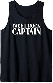 YACHT ROCK CAPTAIN Art Funny Boat Sailor Party Gift Idea Tank Top