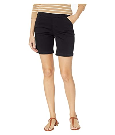 Jag Jeans 7 Petite Gracie Pull-On Shorts in Twill (Black) Women