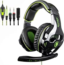 Sades SA810 Stereo Gaming Headset für PS4, PC, Neue Xbox One, Noise Cancelling über Ohr..