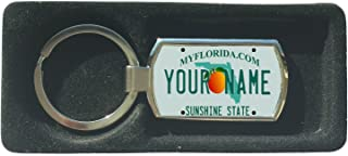 BleuReign(TM) Personalized Custom Name Florida State License Plate Metal Keychain