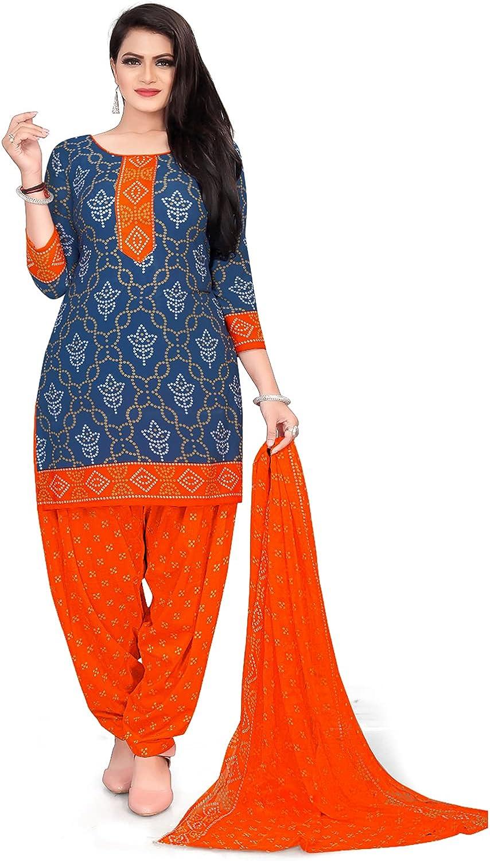 SB Traders Ready to Wear Indian/Pakistani Patiyala Style Crepe Fabric Salwar Suit for Women/Girls