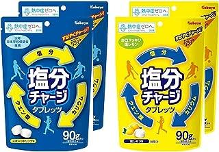 【まとめ買い】カバヤ食品 塩分チャージタブレッツ 90g 2種セット (スポーツドリンク味&塩レモン味) 各2袋(計4袋)