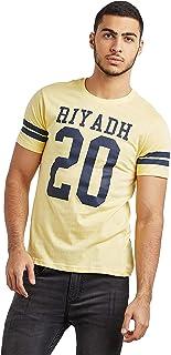 تي شيرت منتخب مطبوع بعبارة رياضة «Riyadh» بقبة دائرية واكمام قصيرة